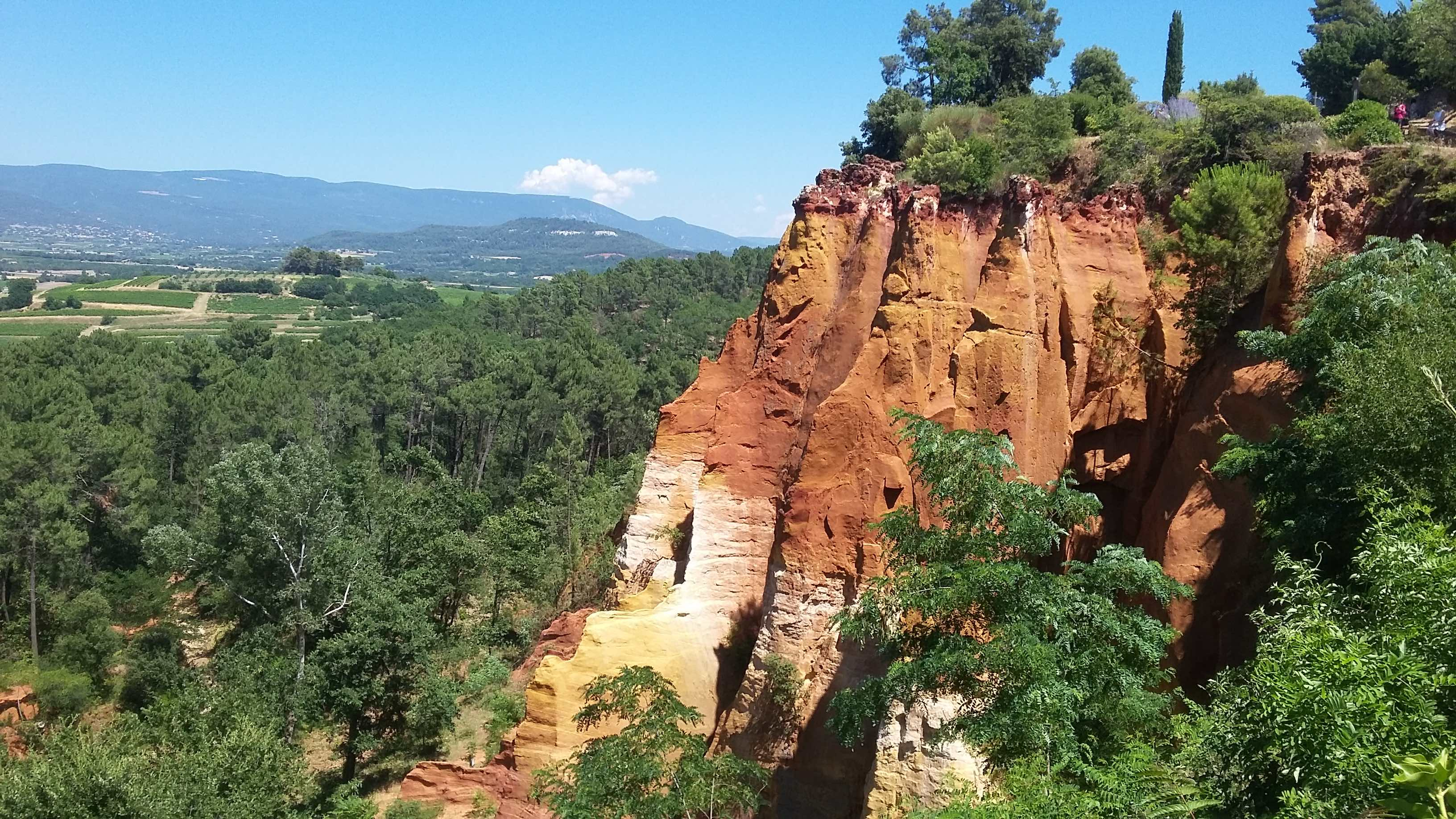 Ochre cliffs in Roussillon